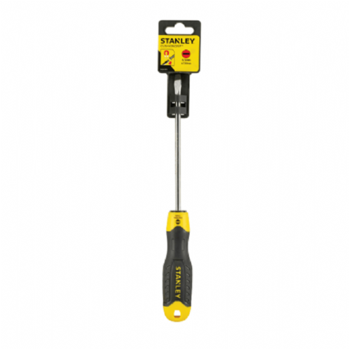 Stanley 064919 Cushion Grip Screwdriver Slotted Flared Tip 6.5mm x 150mm